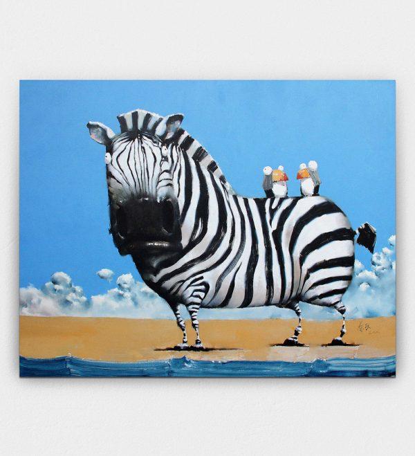 Zebra & Birds Cai Jun
