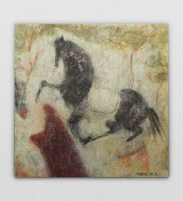 Mini Landscape Horse by Torri Le