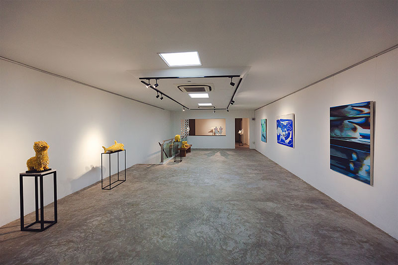 Internal photo of art gallery Asian Art Platform